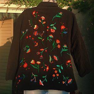 cutie floral embroidered blazer 💕🌸